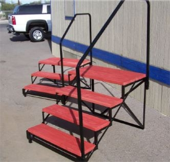 32 Wood Mobile Home Steps Mrsteel | Wood Mobile Home Steps | Wooden | Pool | Outdoor | 8X12 Porch | Concrete