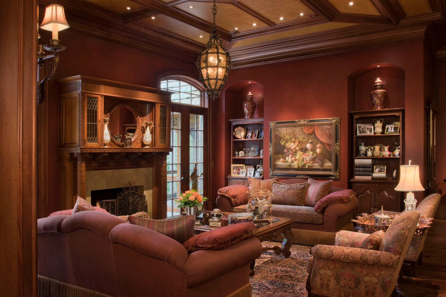 Mouta Group   Wix com Traditional living room in brown interior design jpg