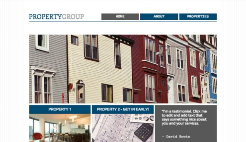 Real Estate Website Templates   Business   Wix Property Group