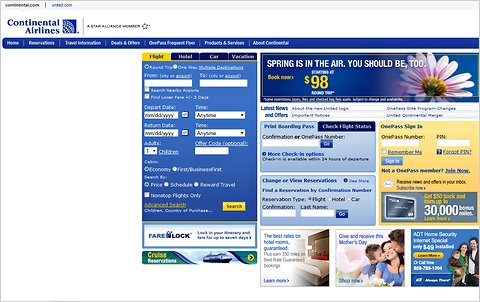 JetBlue vs. Continental: Battle of the Airline Web Sites ...
