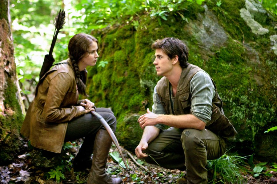 Katniss Everdeen  a New Type of Woman Warrior   The New York Times Jennifer Lawrence with Liam Hemsworth in    The Hunger Games     Credit Murray  Close Lionsgate