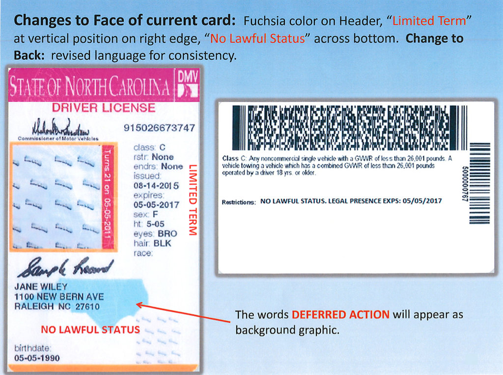2013 Carolina Drivers License Drivers North Carolina License North 2013