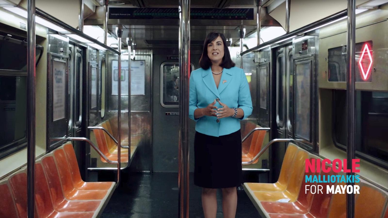 In Ad Malliotakis Takes Swing At De Blasio Over Subway