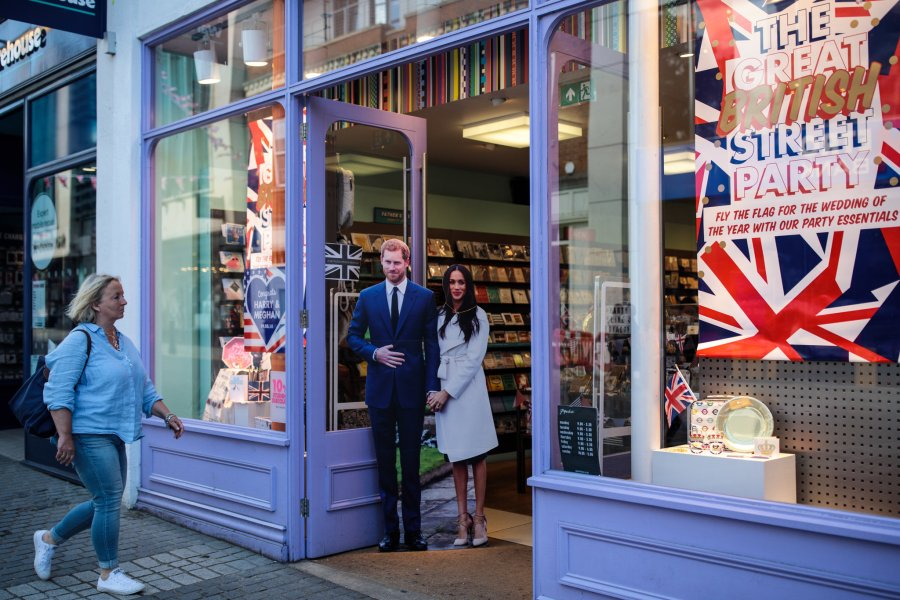 What Meghan Markle Means to Black Britons   The New York Times A cardboard cut out of Prince Harry and Meghan Markle on display in  Windsor  When she looks at Ms  Markle  Tshego sees a version of herself   new to England