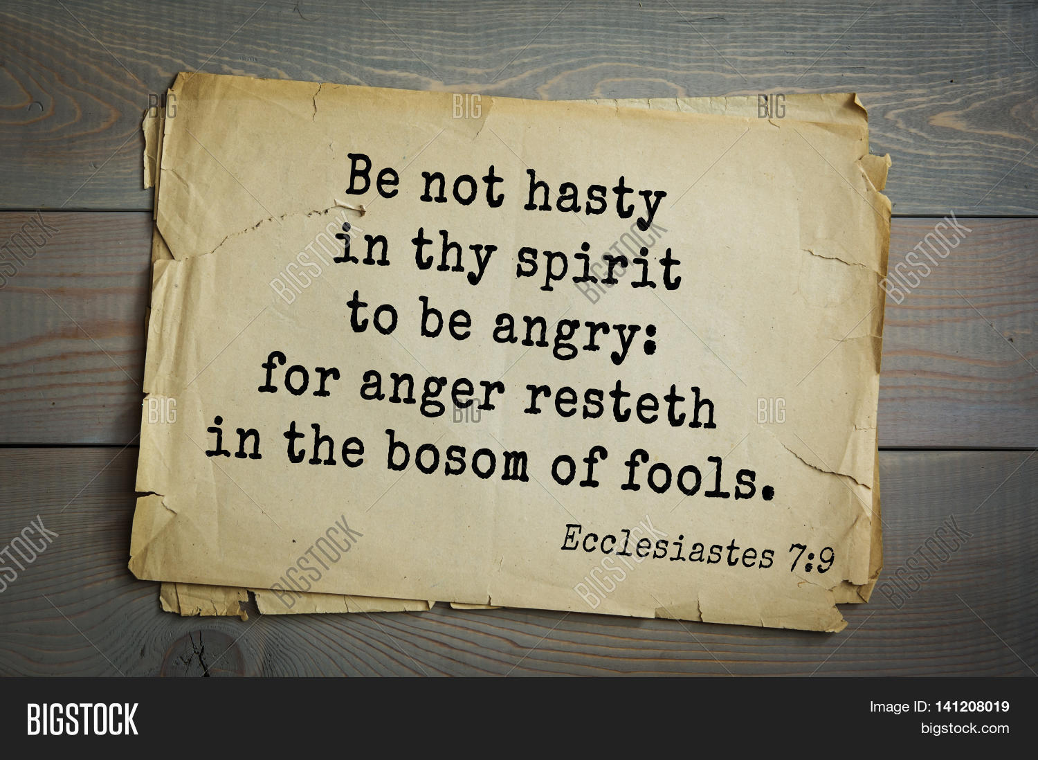 Anger Ecclesiastes Hasty Bosom Be Be Thy O 7 Angry Not Spirit Resteth 9