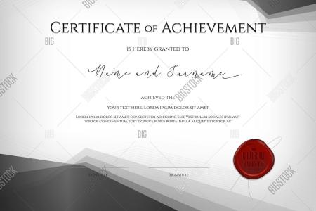 Luxury Certificate Vector   Photo  Free Trial    Bigstock Luxury Certificate Template With Elegant Border Frame  Diploma Design For  Graduation Or Completion