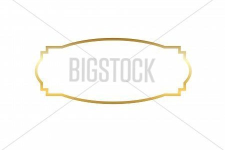Gold Frame  Beautiful Vector   Photo  Free Trial    Bigstock Beautiful simple golden design  Vintage style decorative border isolated  white background