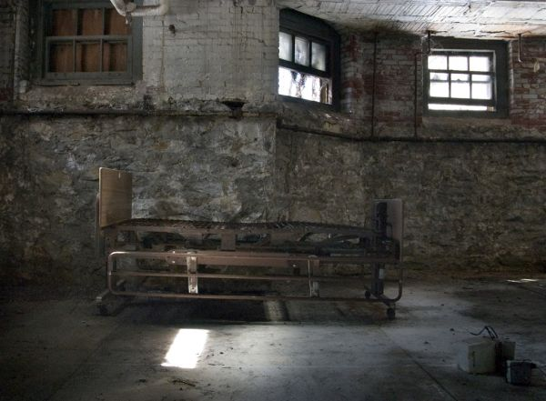 Bed Frame In Basement Photo Of The Abandoned Pennhurst