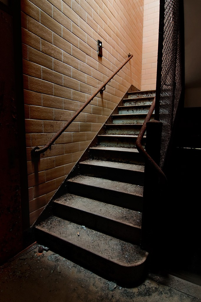 Back Staircase Photo Of The Abandoned The Ladd School