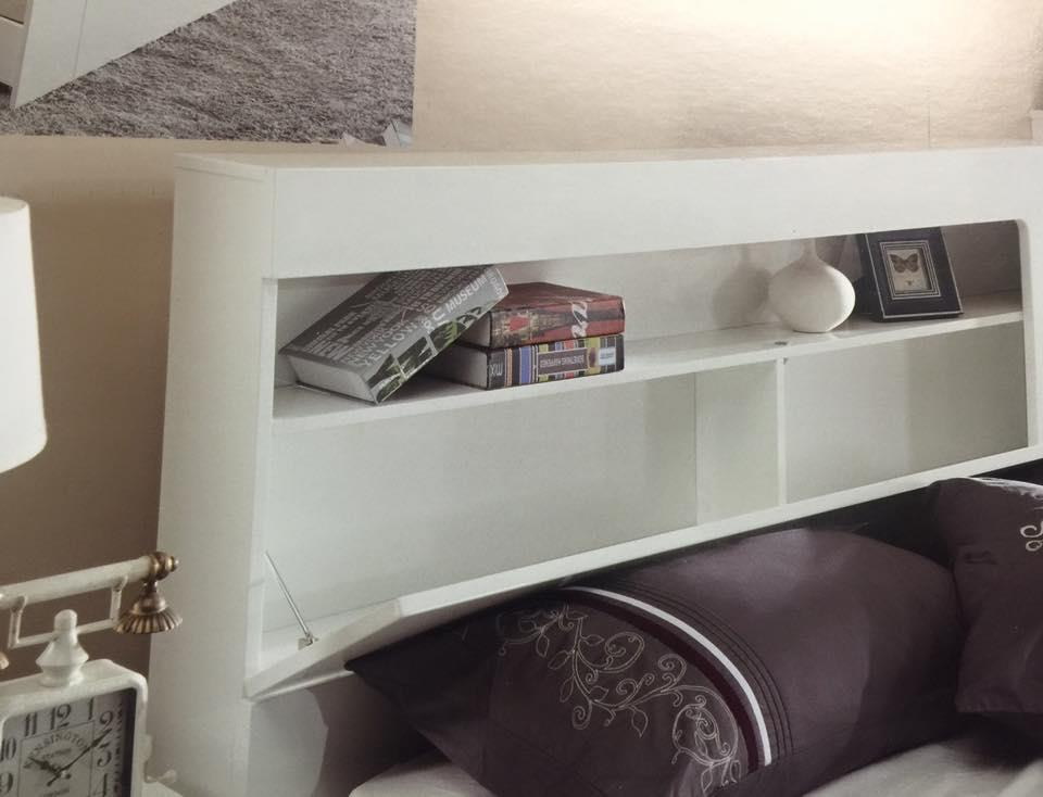 Queen Bed With Gas Lift Head Storage Foot End Drawer Gloss