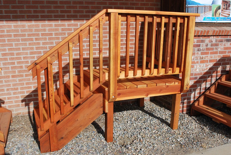 Spec Deck Pre Built Deck — The Redwood Store   Patio Steps Home Depot
