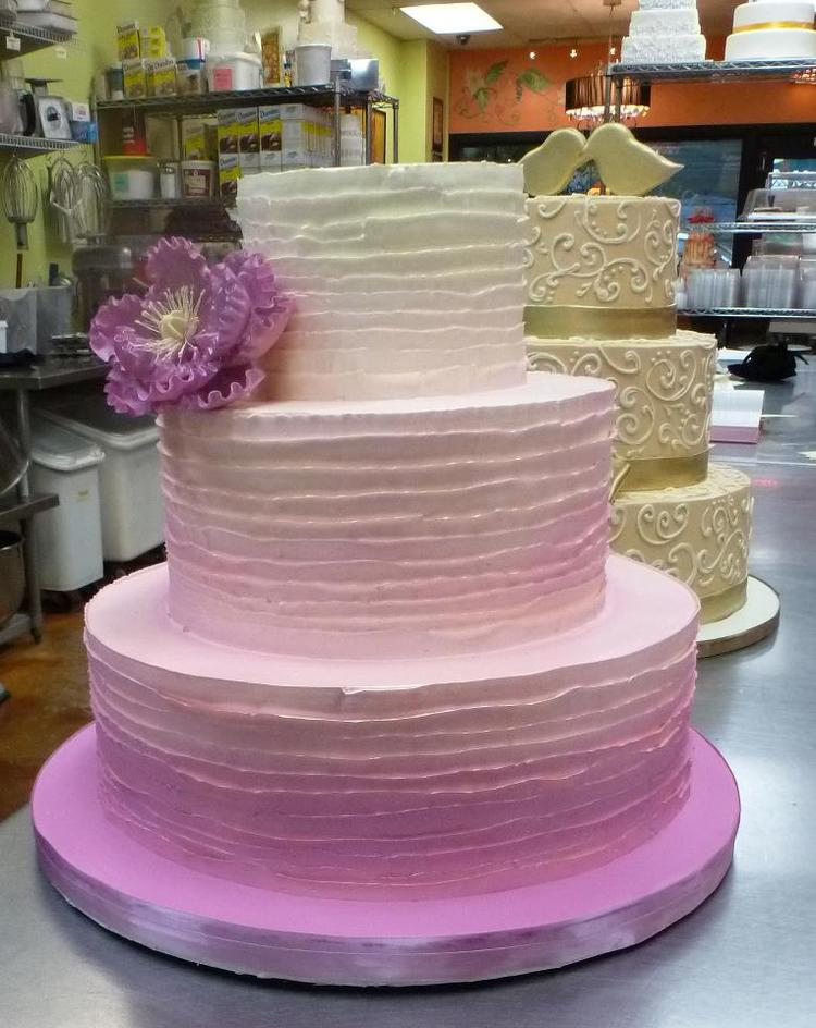 Cakes Washington DC Maryland MD Wedding Cakes Northern VA Virginia     Wedding Cake with Ombre Design