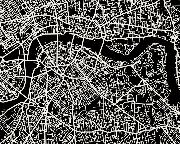 London Map Art Print     Mr City Printing London Map Art Print