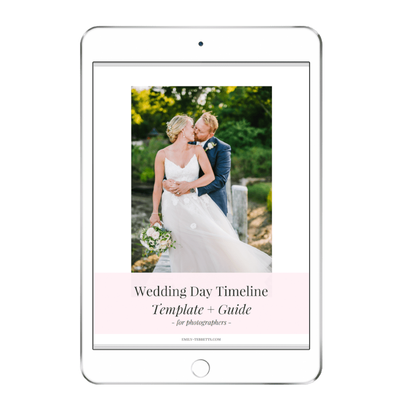 Wedding Day Photography Timeline Template   Guide     Emily Tebbetts Wedding Day Photography Timeline Template   Guide