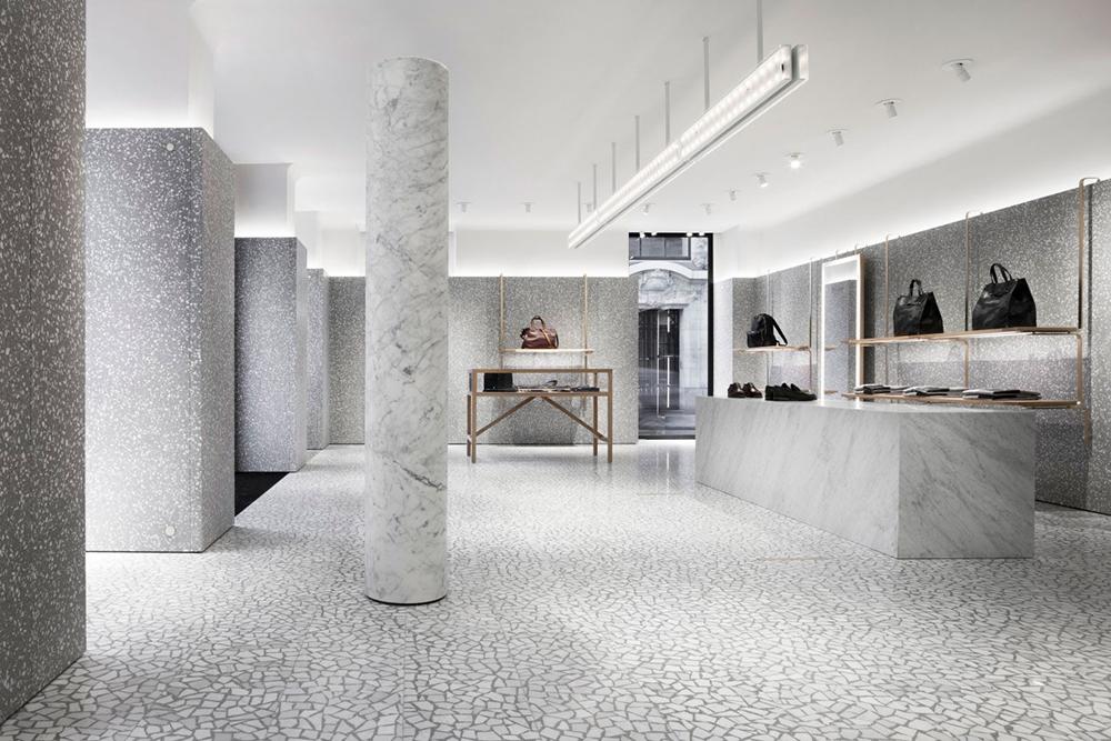 White Terrazzo Flooring Designs