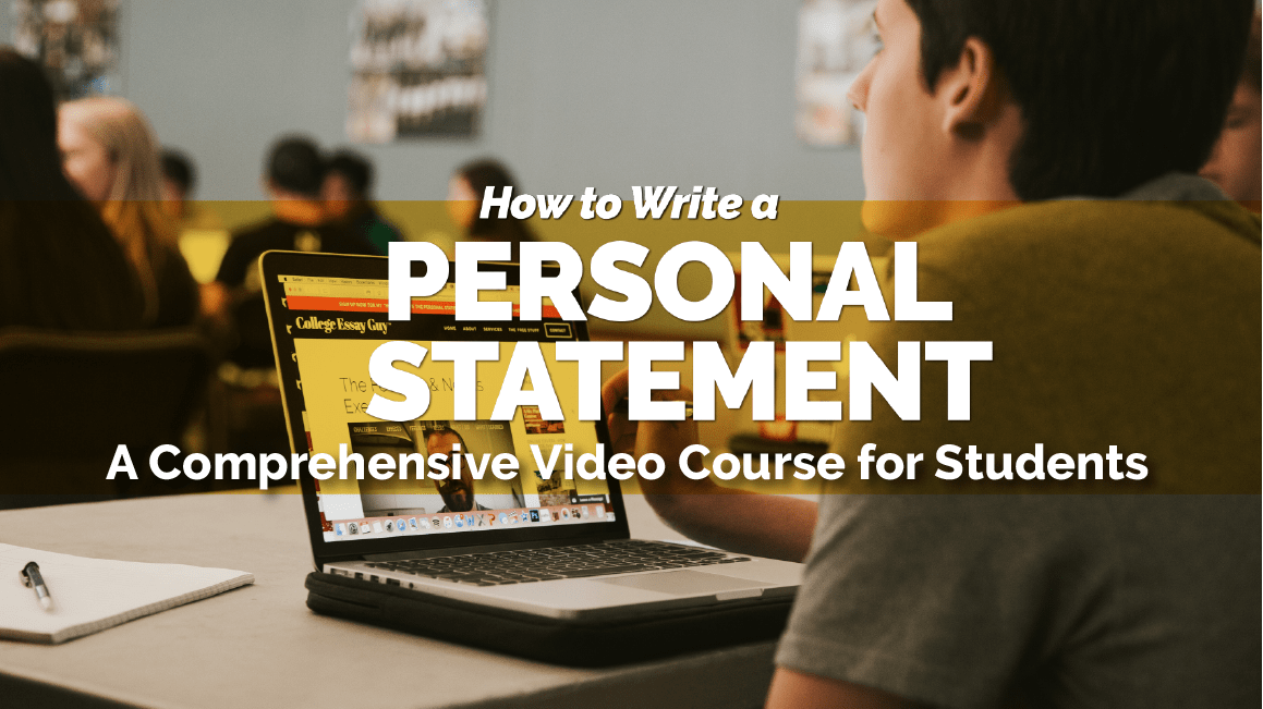 Courses for Students How to Write a Personal Statement student 2018 Video Banner  SMall   min