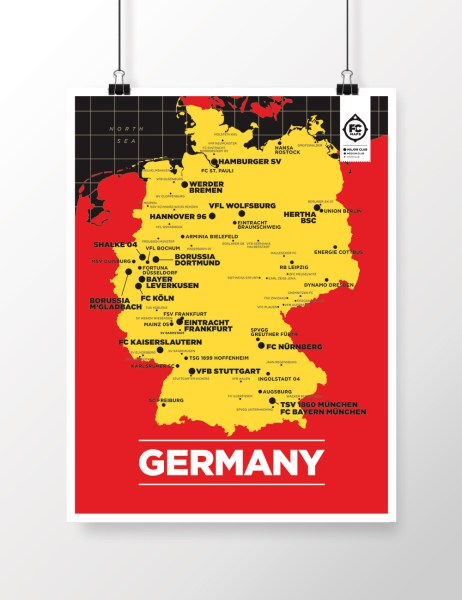 GERMANY MAP     Football Club Maps GERMANY MAP