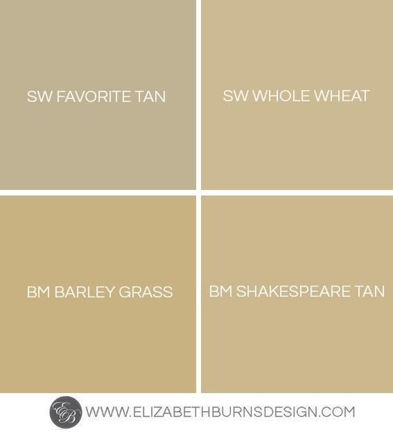 Shades Of Gold Paint Colors Elizabeth Burns Design