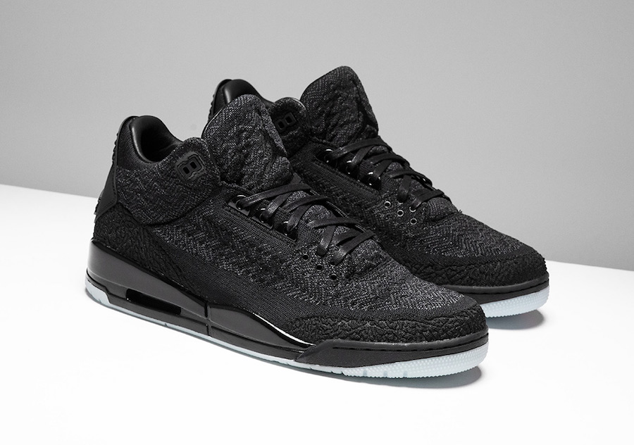 Now Available  Air Jordan 3 Retro Flyknit  Triple Black      Sneaker     Now Available  Air Jordan 3 Retro Flyknit  Triple Black