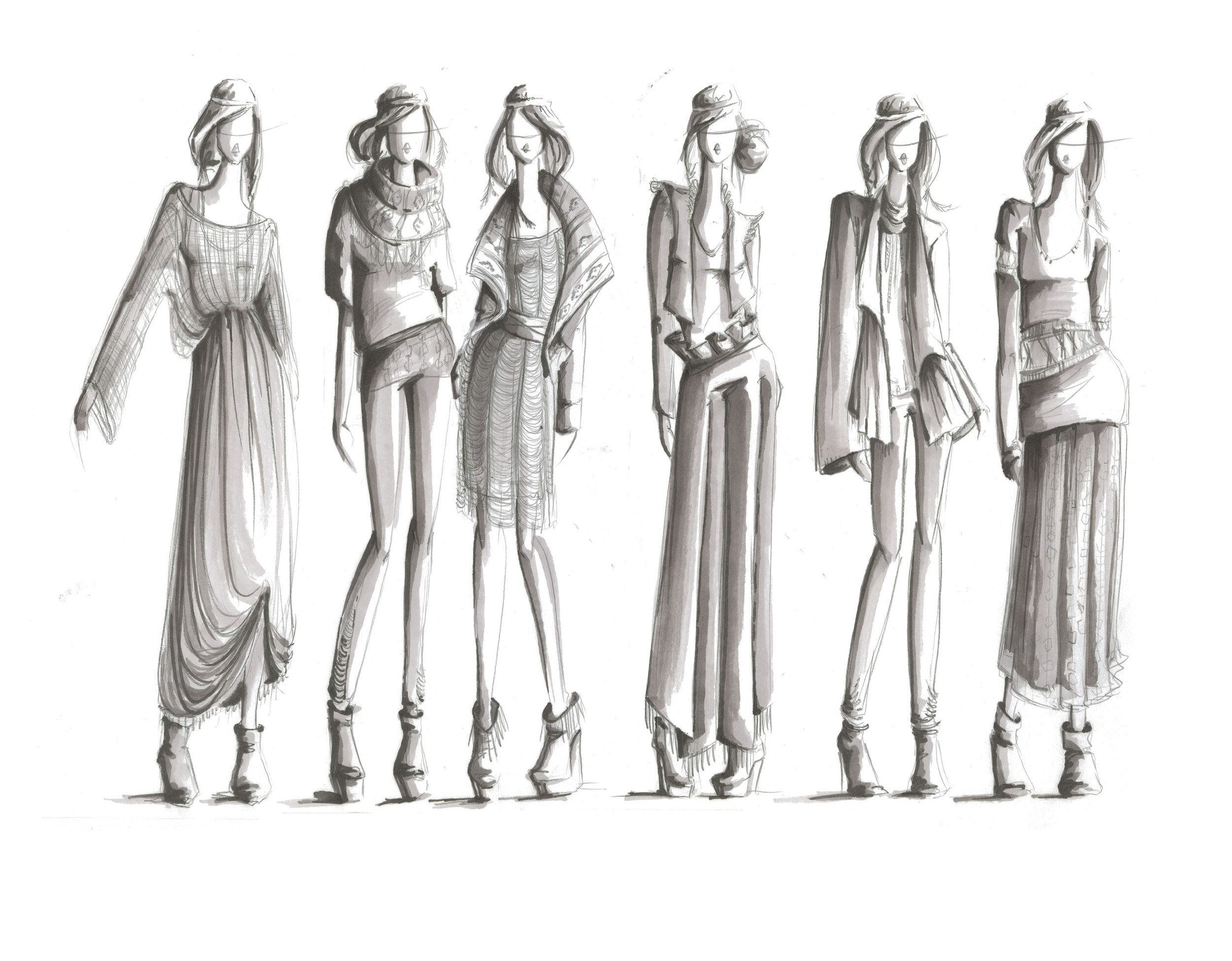 Winter Fashion Drawings