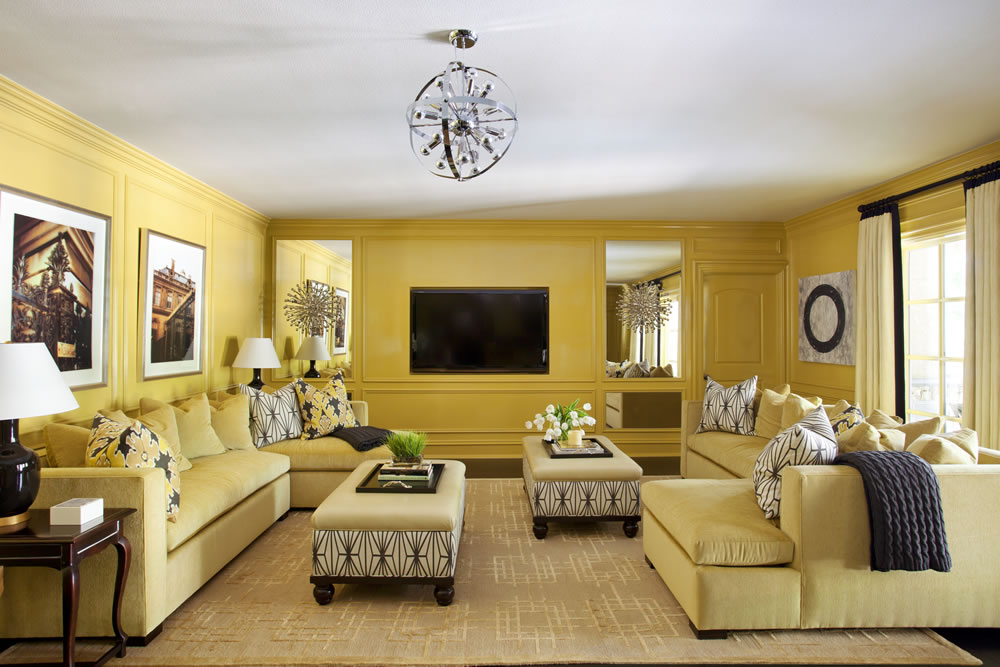 Elements of Interior Design  Color Gallery     Austin Home Interiors      nbsp Using Designer Tobi Fairley s take on monochromatic color also  features a single tone of lemon yellow