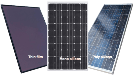 What are monocrystalline  polycrystalline and thin film solar panels     The solar cells  also known as Photovoltaic Cells or PV cells  generate  electricity when