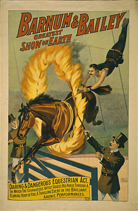 Barnum Amp Bailey Equestrian Act Vintage Circus Poster