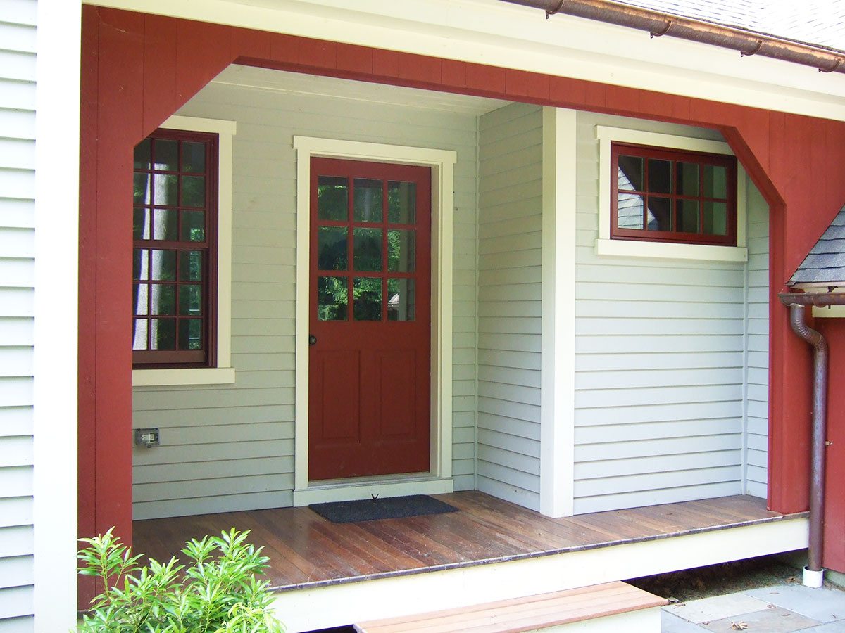 Saltbox House Front Porch