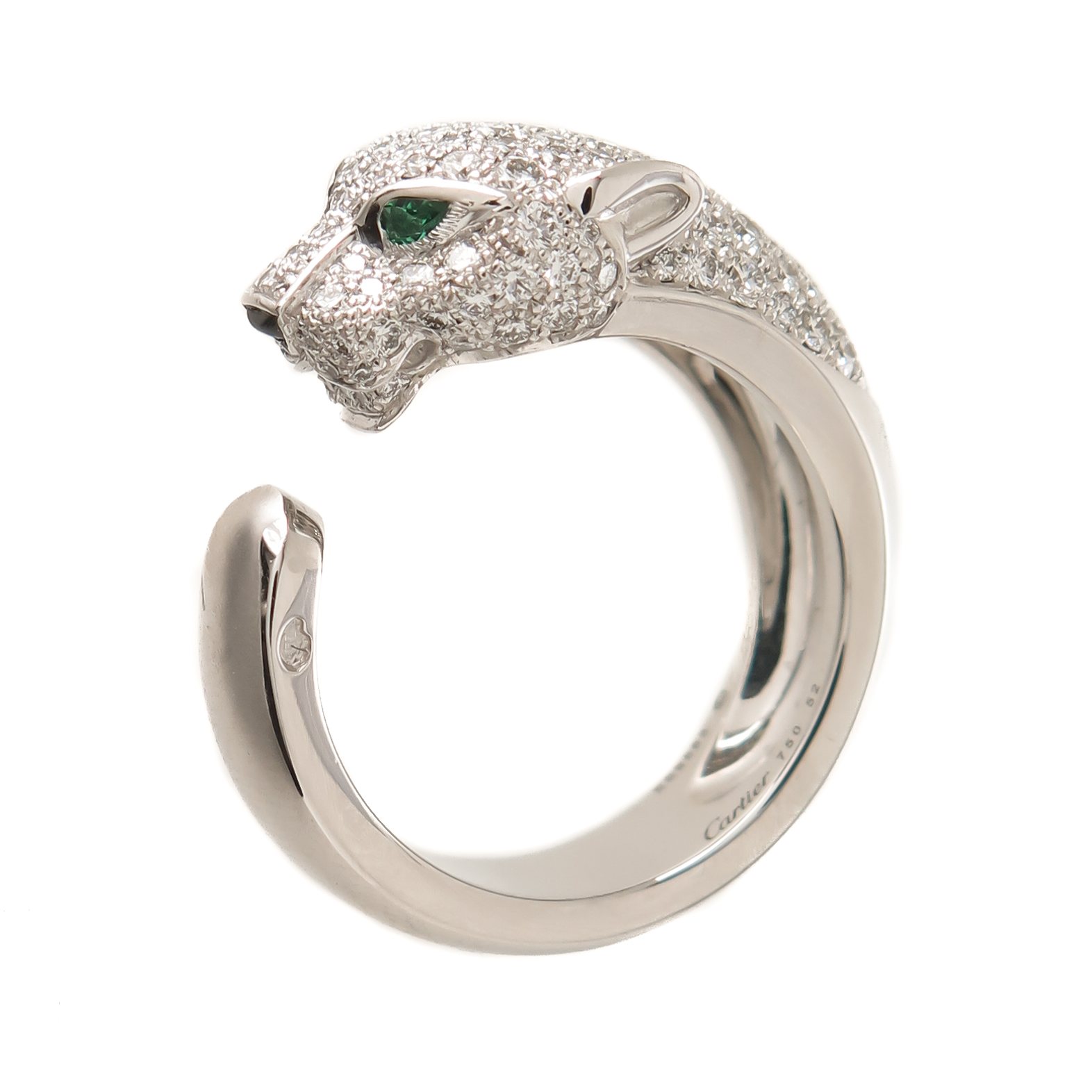 Cartier Diamond Gold Panther Ring     N  GREEN AND SONS Cartier Diamond Gold Panther Ring