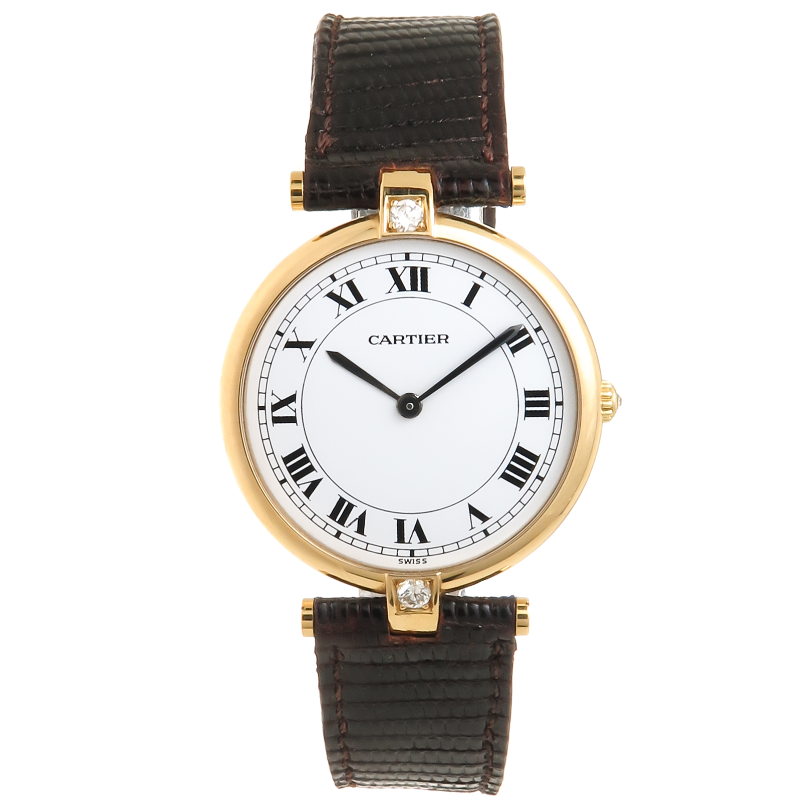Cartier Yellow Gold Diamond Large Vendome Collection Quartz     Cartier Yellow Gold Diamond Large Vendome Collection Quartz Wristwatch