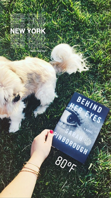 Behind Her Eyes by Sarah Pinborough     the page worm I only post my best of and suggested reads on this blog  but if you want to  chase me around NYC   follow all the 7 books  give or take  I am always