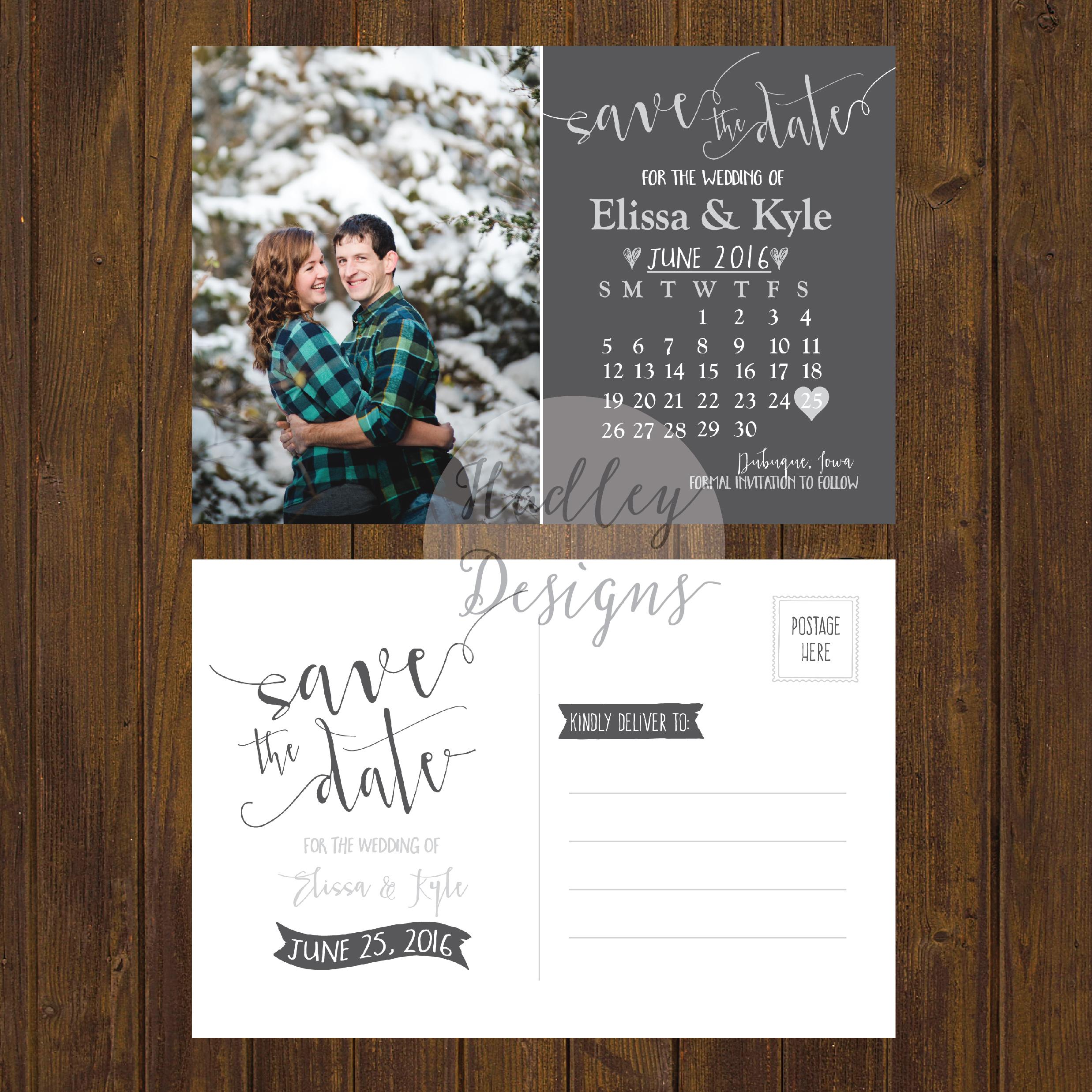 Save Weekend Wedding Cards