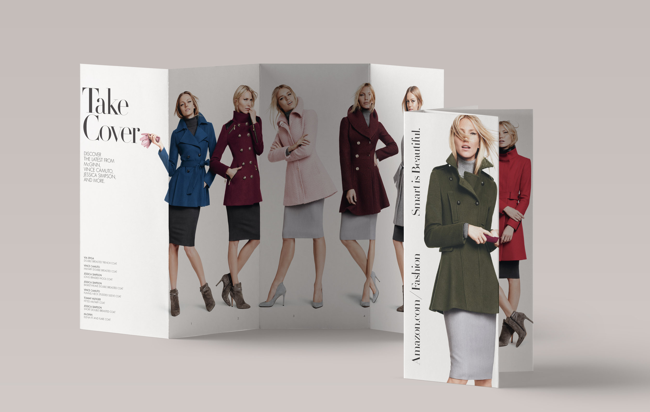 Amazon Fashion     Selected Work Fall Self Mailer Brochure