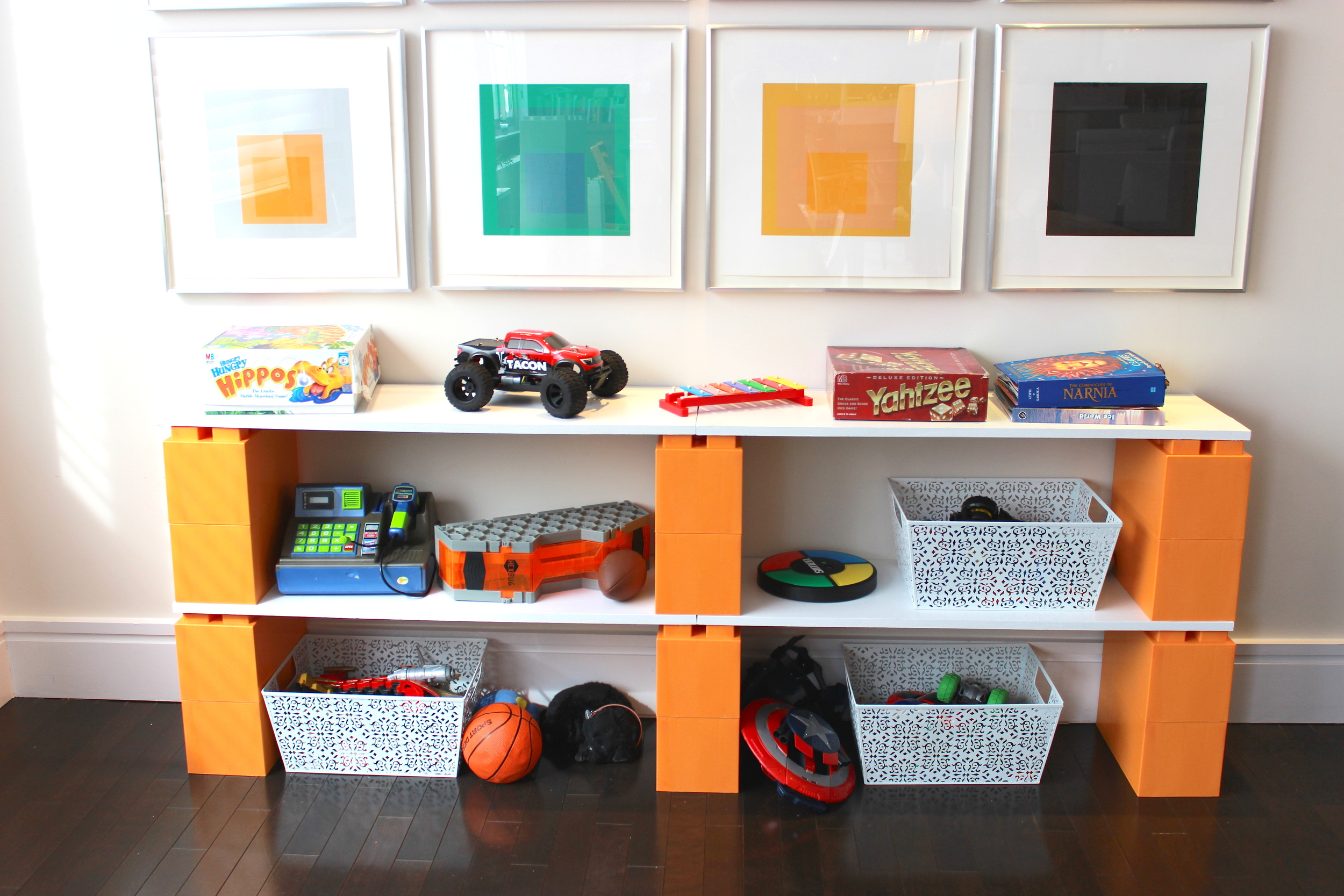 Modern interlocking block furniture  Modular furniture construction     Ideal for toy storage and kids rooms shelving