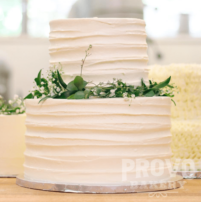 Wedding Cakes     Provo Bakery Striped Frosting Style