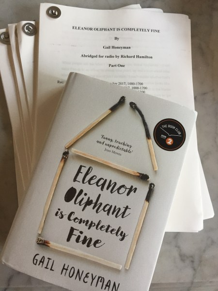 News     Tracy Wiles December 2017   Eleanor Oliphant by Gail Honeyman directed by Justine  Willett  has begun on Radio 4 for BOOK AT BEDTIME over the next two weeks