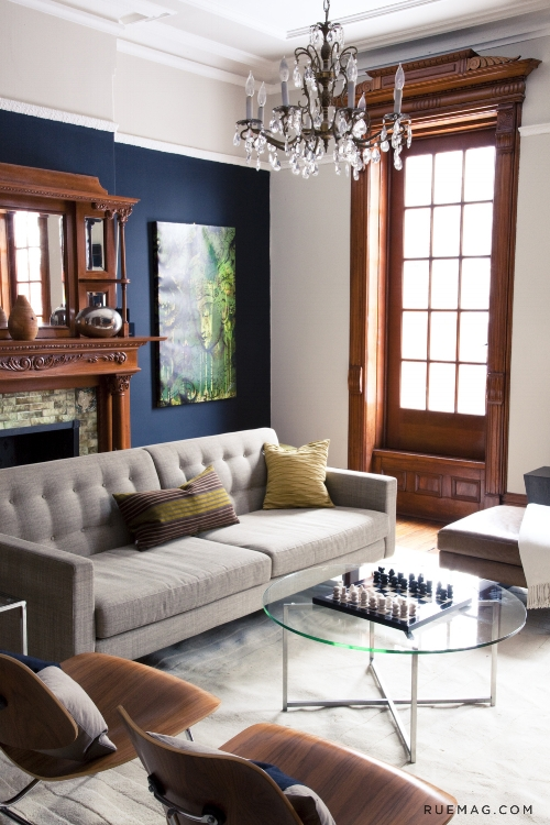 Navy Couch Living Room