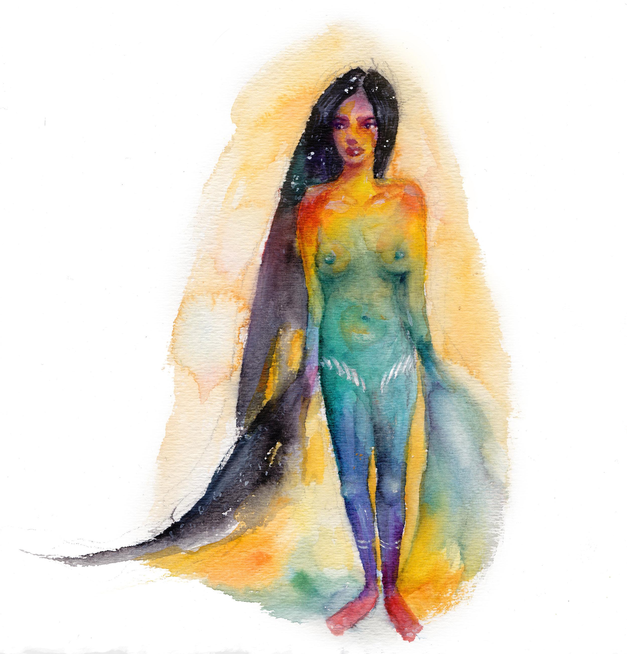 Catfish Art Watercolor Ink