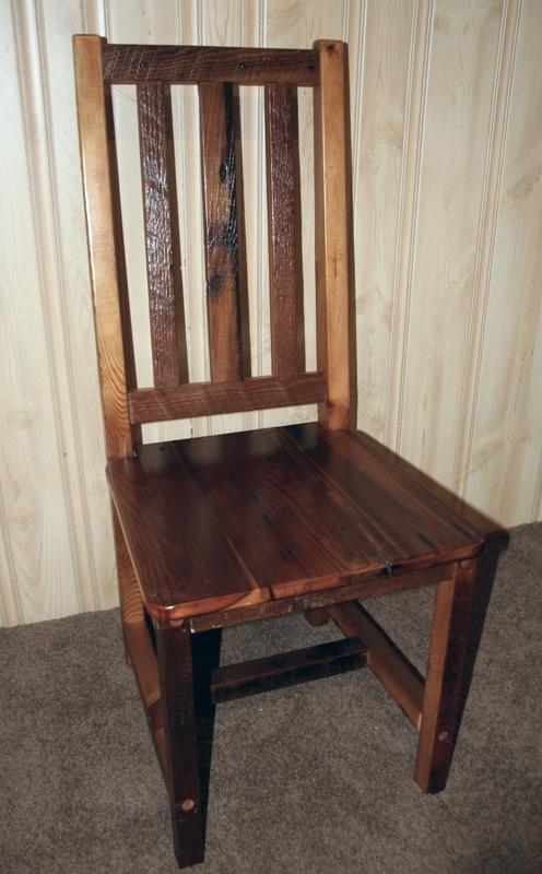 Barnwood Dining Chairs Barn Wood Furniture Rustic