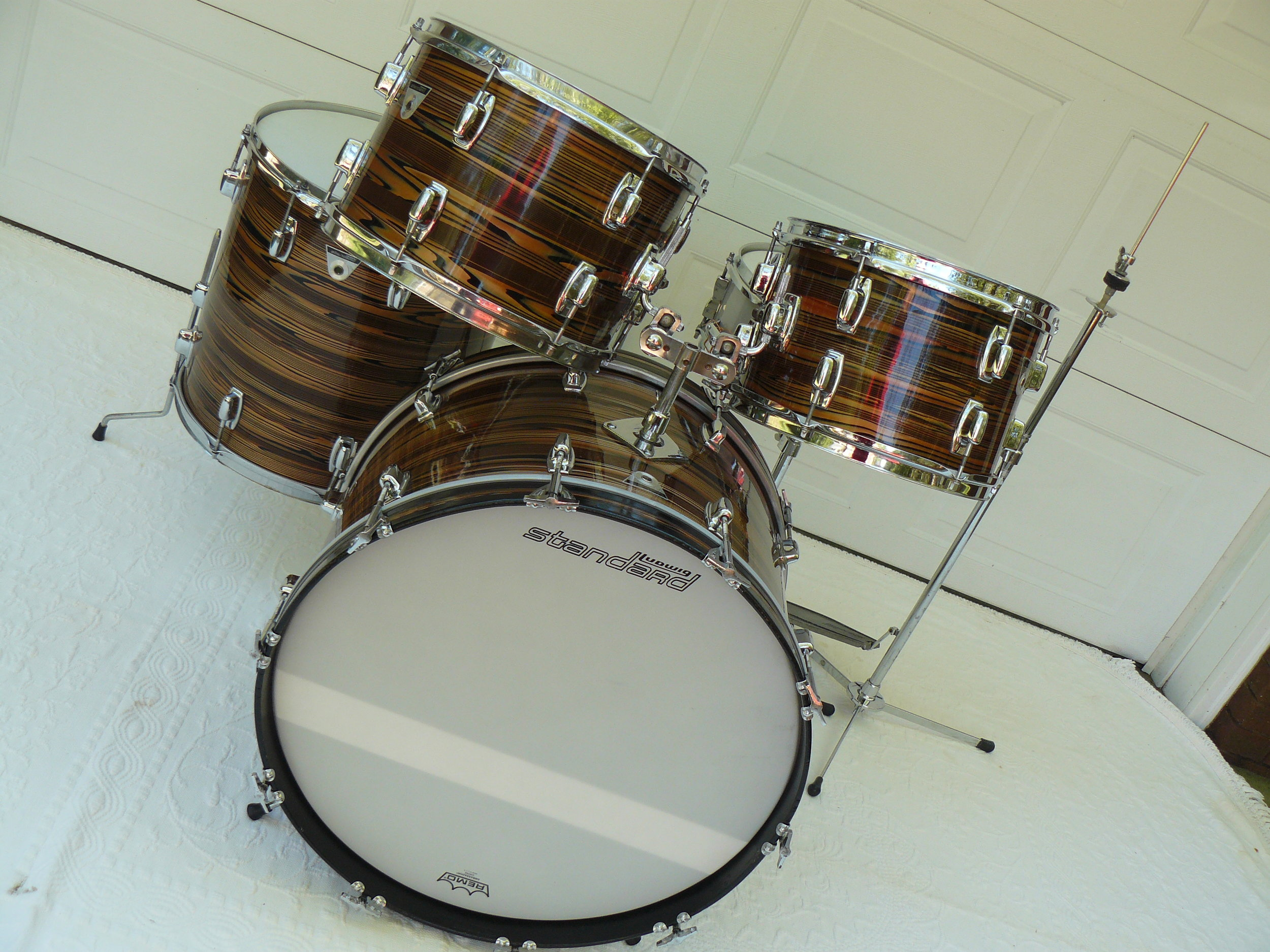 1970s Ludwig Standard S 330 drum set finished in bronze strata I am always on the hunt for a nice vintage drum set for sale  My friends  and family are always on the search also  I truly appreciate a call from  someone