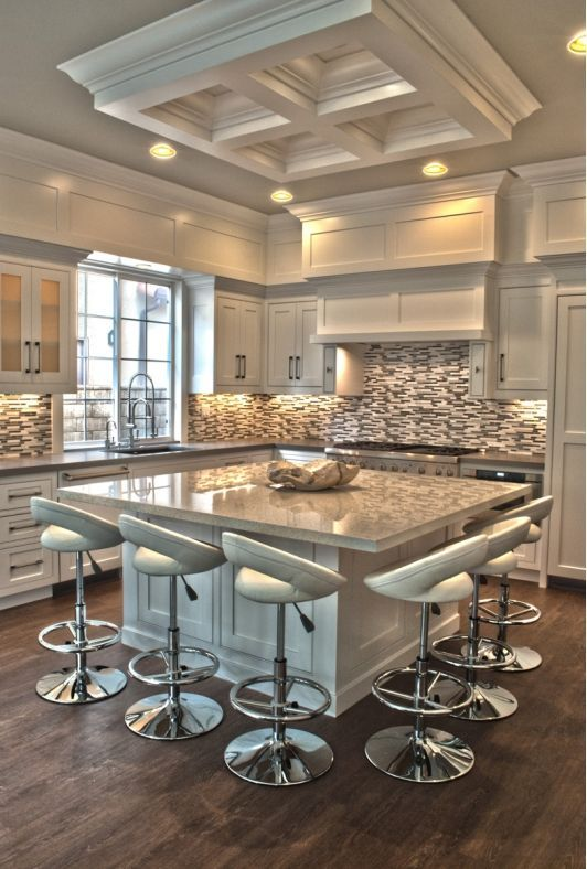 55 Functional and Inspired Kitchen Island Ideas and Designs     RenoGuide elegant modern kitchen with square island