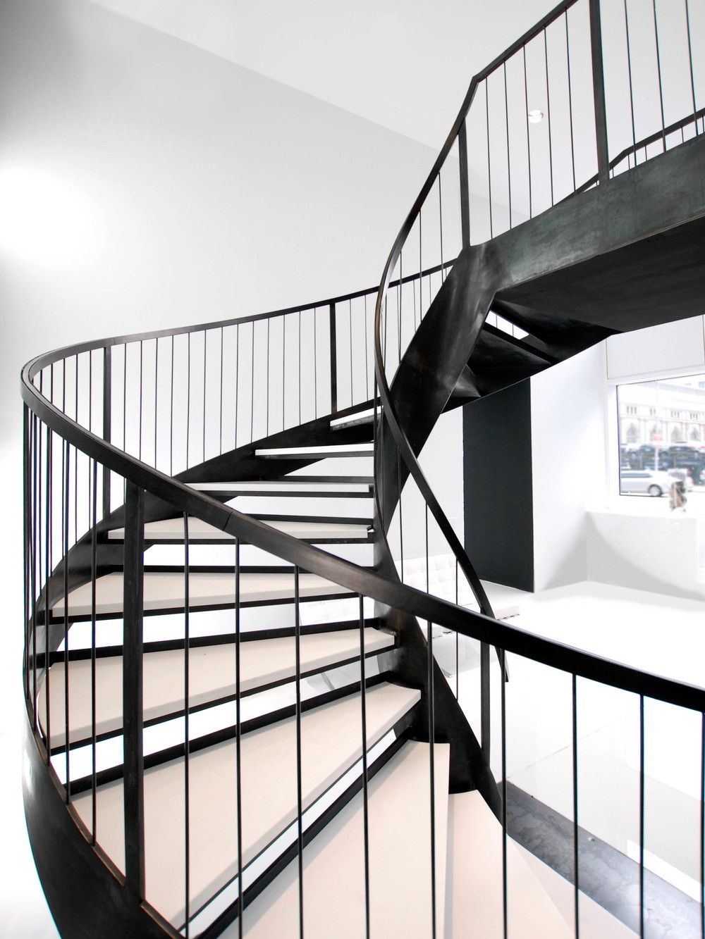Helical Staircase — Custom Metal Fabrication In Brooklyn Nyc | Helical Staircase Structural Design