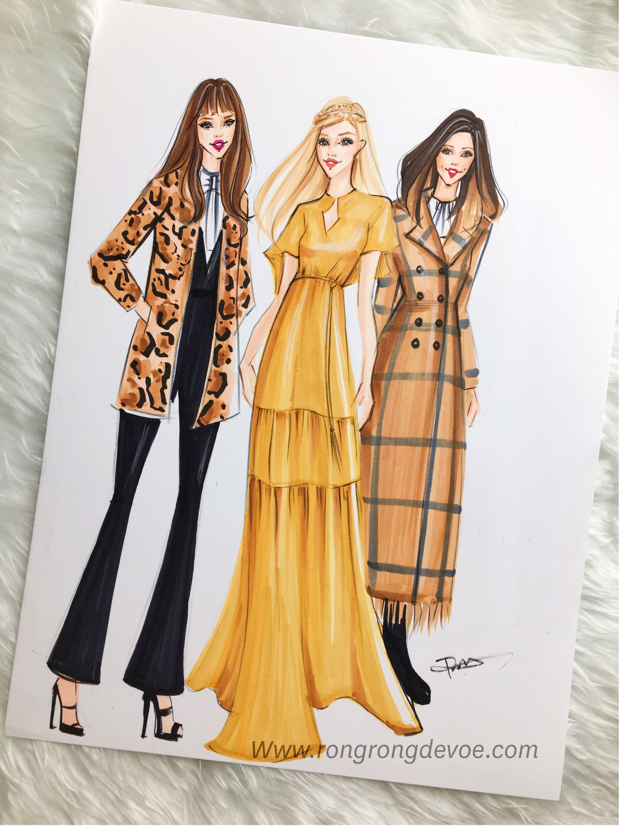 Fashion Illustration of Rachel Zoe s Pre Fall 2016 Collection     Fashion Illustration of Rachel Zoe s Pre Fall 2016 Collection