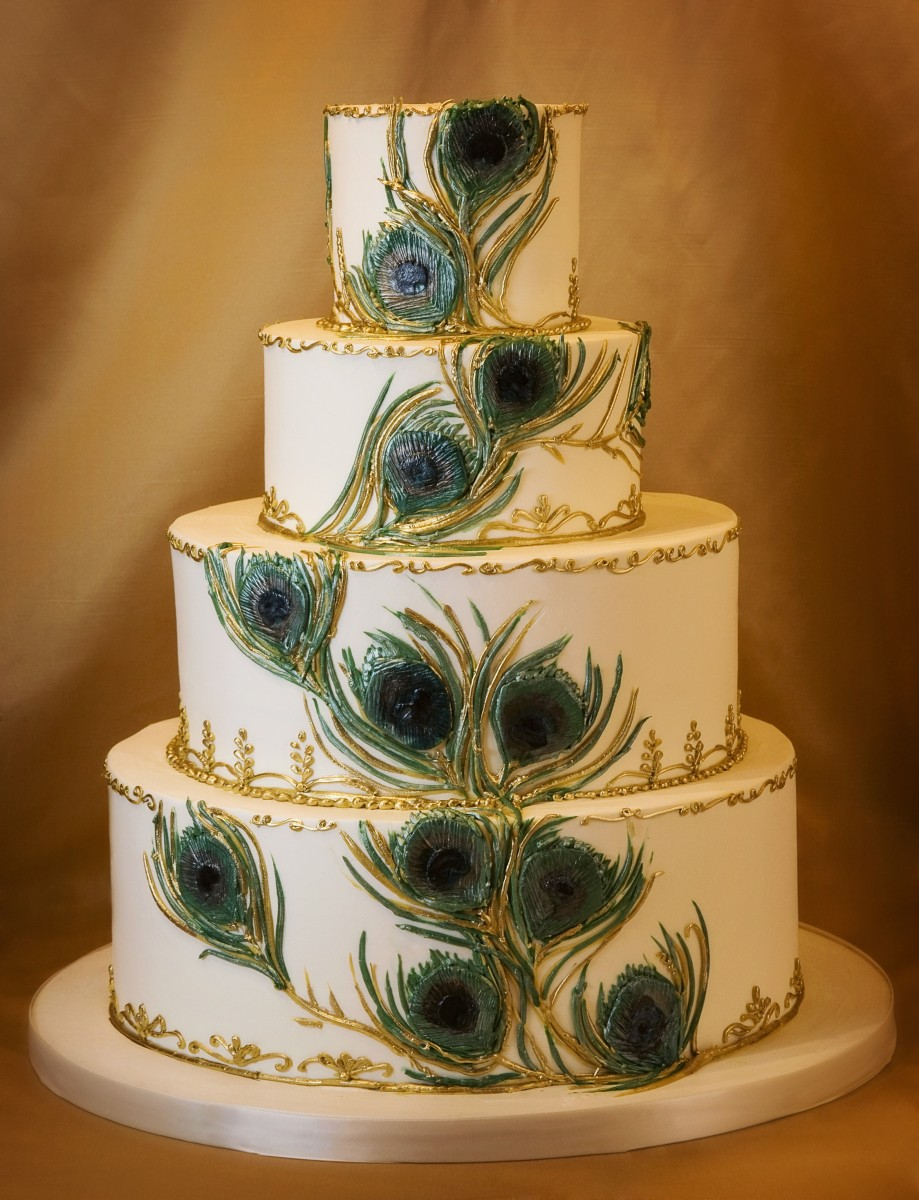 Peacock Wedding Cakes are Hot      Cake Coquette Cake Coquette and Photography by Melissa Bagley jpg