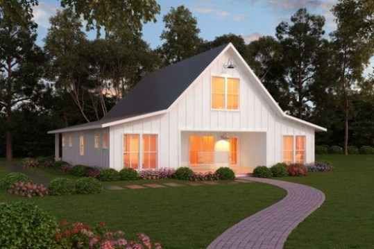 Top 10 Modern Farmhouse House Plans     La Petite Farmhouse farmhouse house plans   houseplans llc