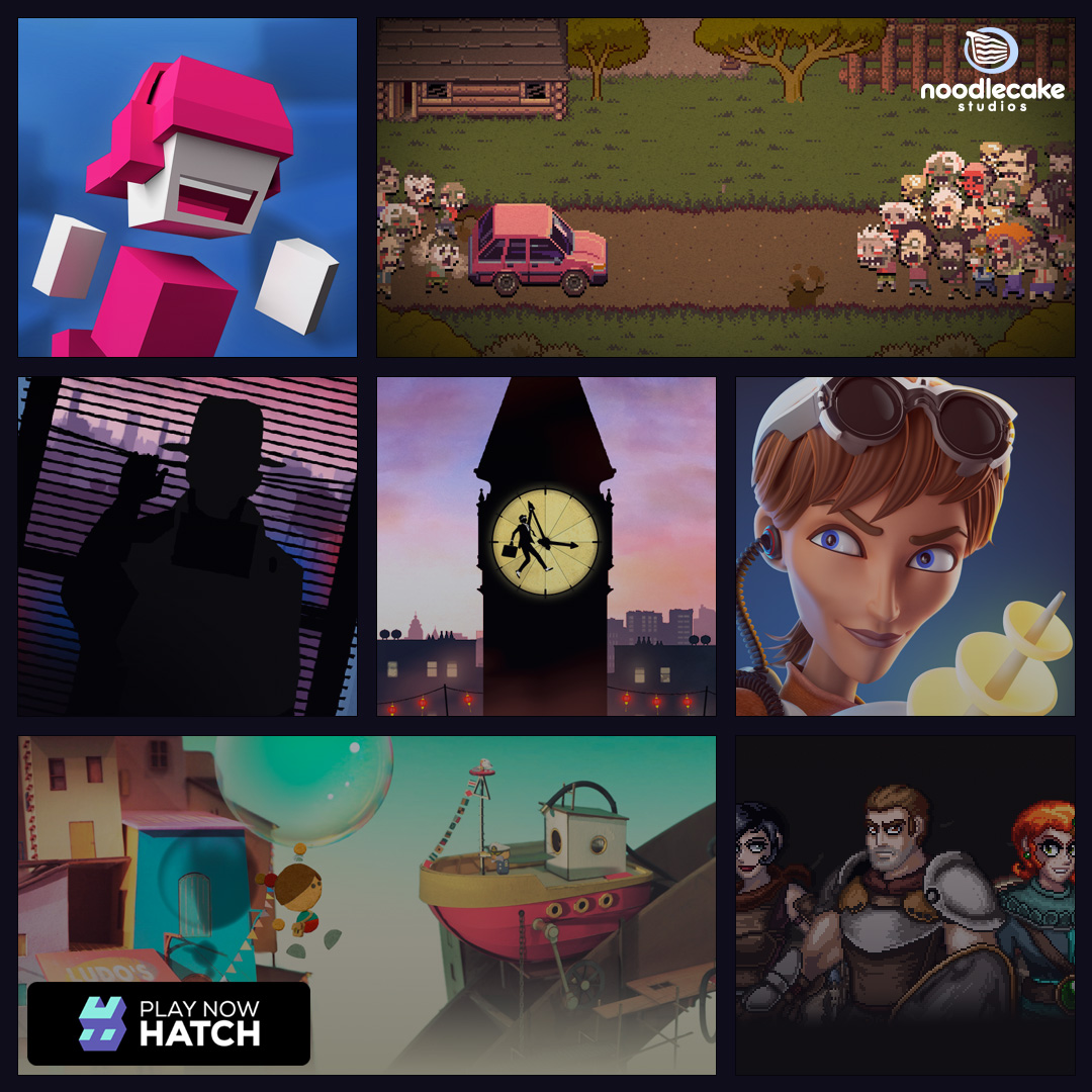 Hatch and Noodlecake Studios team up to distribute cool games  save     Hatch and Noodlecake Studios team up to distribute cool games  save world      Hatch         Play games on demand  Share with friends