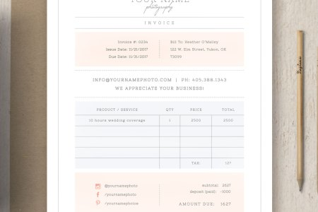 Photography Invoice Template     Photography Invoice Template     Wedding Photographer Invoice Template   Cambria