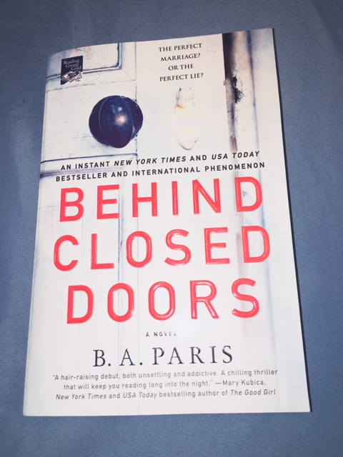 Behind Closed Doors  by B A  Paris     Booklovers Anonymous  Behind Closed Doors  by B A  Paris
