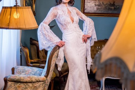 Bridesmaid dress » wedding dress with collar | Bow bridesmaid dress