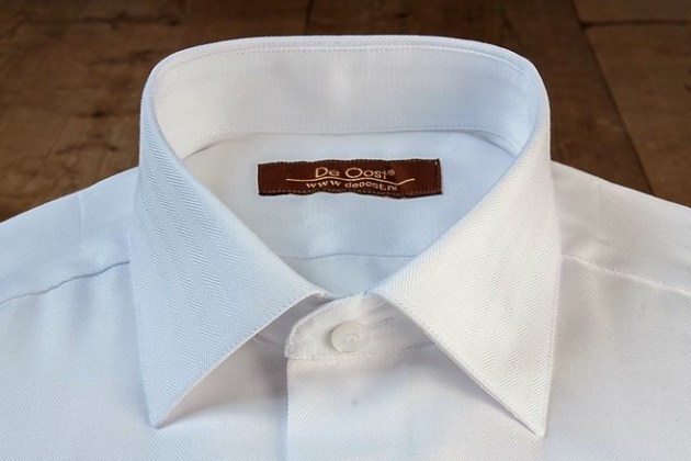 Dress Shirt Collar Types Overview     De Oost Bespoke Tailoring     Straight Point Collar